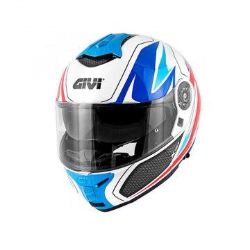 Givi X.21 Challenger Shiver Helmet - Blue. Red. White