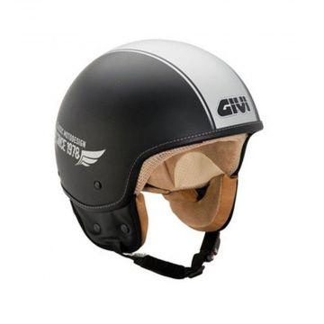 Givi 10.9F JET Helmet - Black/Silver