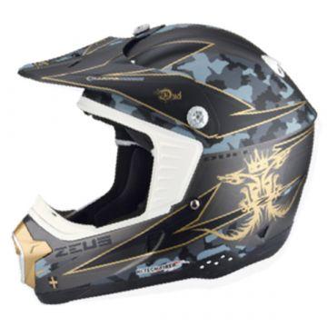 Zeus ZS-906 Helmet - Silver/Gold/Black
