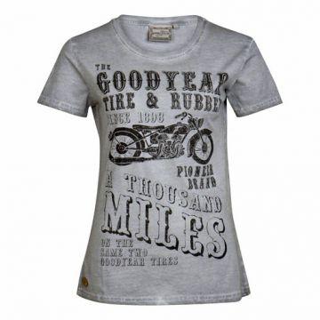 Goodyear Ladies T-Shirt Pilot Rock-Viintage Grey