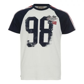 Goodyear Raglan T-shirt Slim Fit Brewster-Sand/Navy