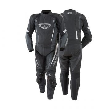 PREXPORT MISANO 2PCS RACING SUIT -  BLACK/WHITE/GUNMETAL