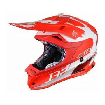 Just1 J32 Pro Kick White Red Kids Helmet