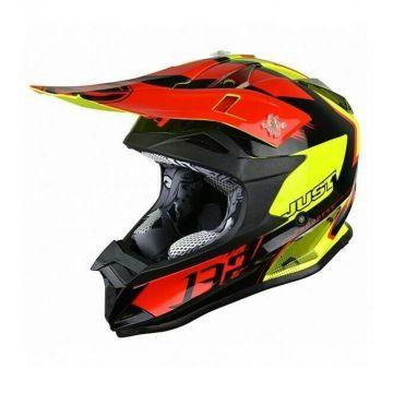 Just1 J32 Pro Kick Black Red Yellow Kids Helmet