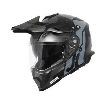 Just1 J34 Pro Tour - Titanium/Black Adventure Helmet
