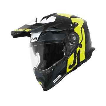 Just1 J34 Pro Tour - Yellow/Black Adventure Helmet