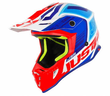 Just1 J38 BLADE BLUE / RED / WHITE GLOSS MX HELMET