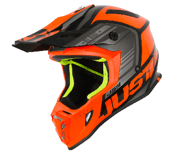 Just1 J38 BLADE ORANGE / BLACK GLOSS MX HELMET