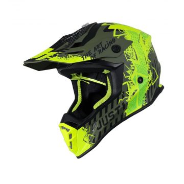 Just1 J38 Mask - Yellow Black Green Helmet