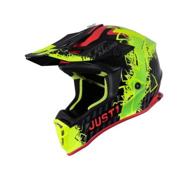 Just1 J38 Mask - Yellow Red Black Helmet