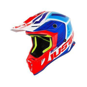 Just1 J38 Blade Blue / Red / White Gloss MX Helmet