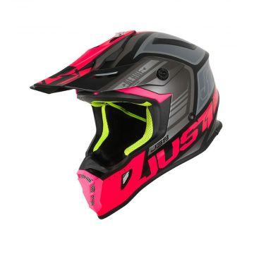JUST1 J38 Blade Fluo Fuxia / Black Matt - Motocross/Enduro Helmet