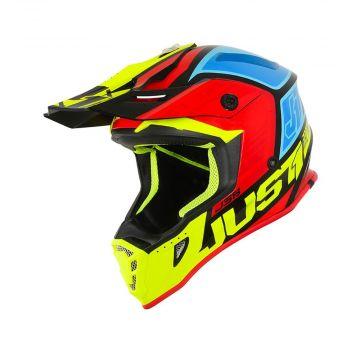 Just1 J38 Blade Black/Yellow/Red/Blue - Motocross/Enduro Helmet