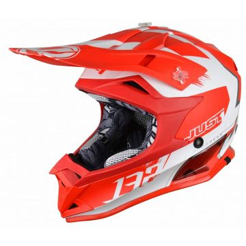 JUST1 J32 PRO KICK WHITE RED KIDS HELMET
