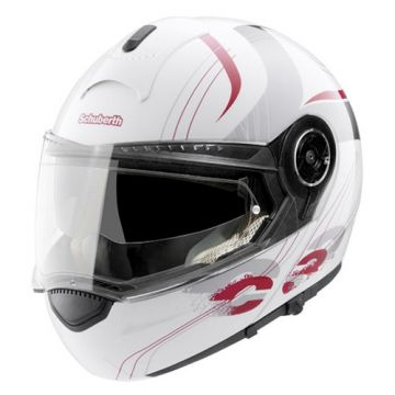 SCHUBERTH C3 Helmet - Lady Stripe White/Pink