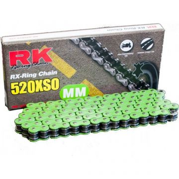 "RK Heavy Duty X-Ring Chain Green ""520"" x 120 Link"