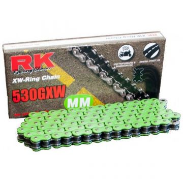 "RK High Performance XW-Ring Chain Green ""530"" x 124 Link"