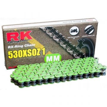 "RK Heavy Duty X-Ring Chain Green ""530"" x 124 Link"
