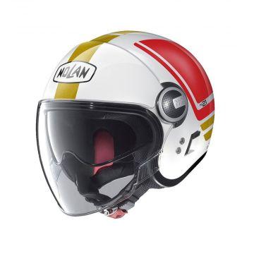 Nolan N21 Flybridge Visor Jet Helmet - Metal White
