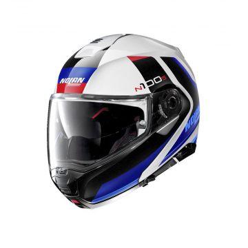 Nolan N100-5 Hilltop N-Com Helmet - Metal White