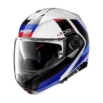 Nolan N1005 Hilltop N-Com Helmet - Metal White