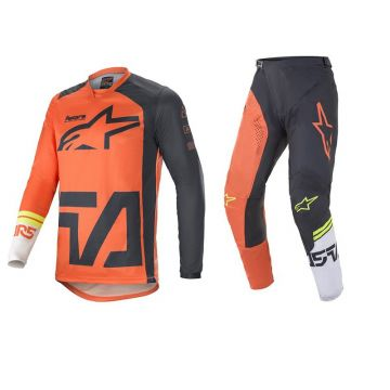 Alpinestars Racer Compass Set - Orange / Off White - 34