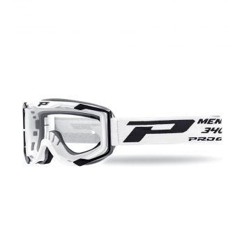 Progrip 3400 Goggles - White (Clear Lens)