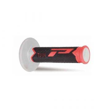 Progrip 788 Triple Density MX Grips - White/Blue/Red