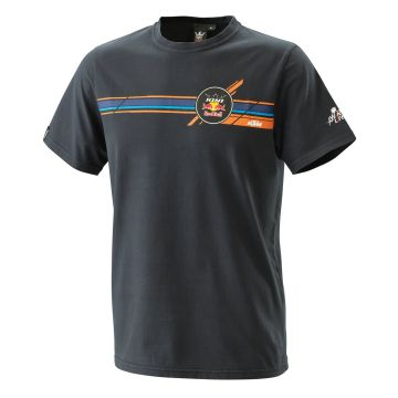 KTM STRIPES TEE BLACK