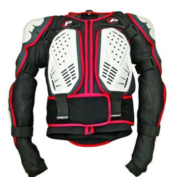 POLISPORT CHEST PROTECTOR INTERGAL - BLACK/WHITE/RED