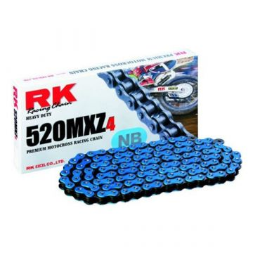 "RK MOTOCROSS RACING CHAIN BLUE ""520"" X 120 LINK"
