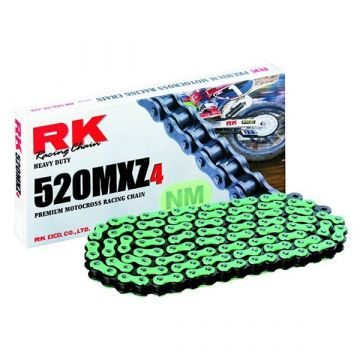 "RK MOTOCROSS RACING CHAIN GREEN ""520"" X 120 LINK"