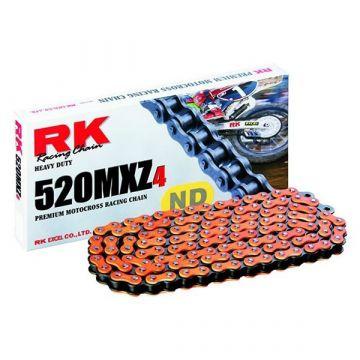 "RK MOTOCROSS RACING CHAIN ORANGE ""520"" X 120 LINK"