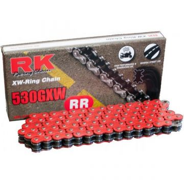 "RK High Performance XW-Ring Chain Red ""530"" x 124 Link"