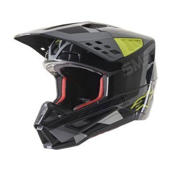 Alpinestars SM5 Rover Helmet -Grey/Yellow