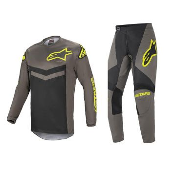 Alpinestars Fluid Speed - Dark Grey / Yellow 32