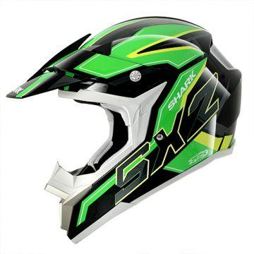 Shark SX2 DOOLEY Helmet - Black/Green