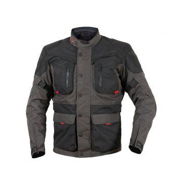 Prexport Syrio Touring Jacket - Black / Gun / Red
