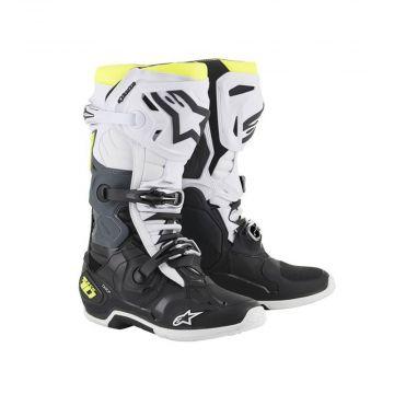ALPINESTARS TECH 10 BOOTS - Black / White / Yellow