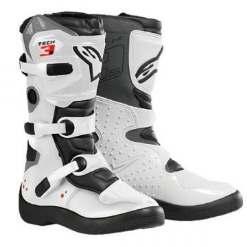 ALPINESTARS TECH 3S YOUTH BOOTS - WHITE