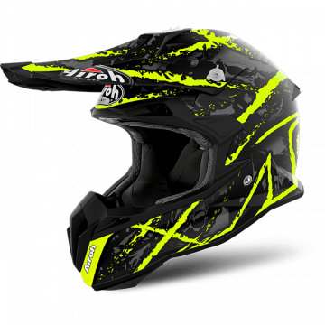 Airoh Terminator Open Vision-Yellow Helmet