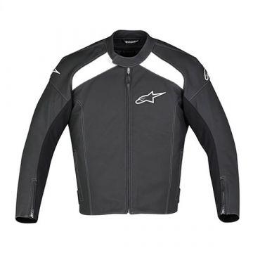 Alpinestar TZ-1 Leather Jacket - Black/White