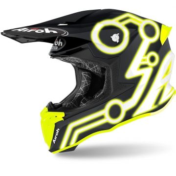 AIROH TWIST 2.0 NEON YELLOW MATT - MOTOCROSS HELMET