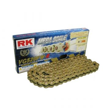 "RK High Performance XW-Ring Chain Gold ""520"" x 124 Link"