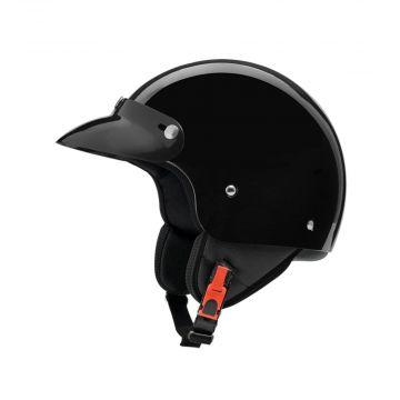 ZEUS - ZS222 - Demi Jet Helmet - Black Glossy