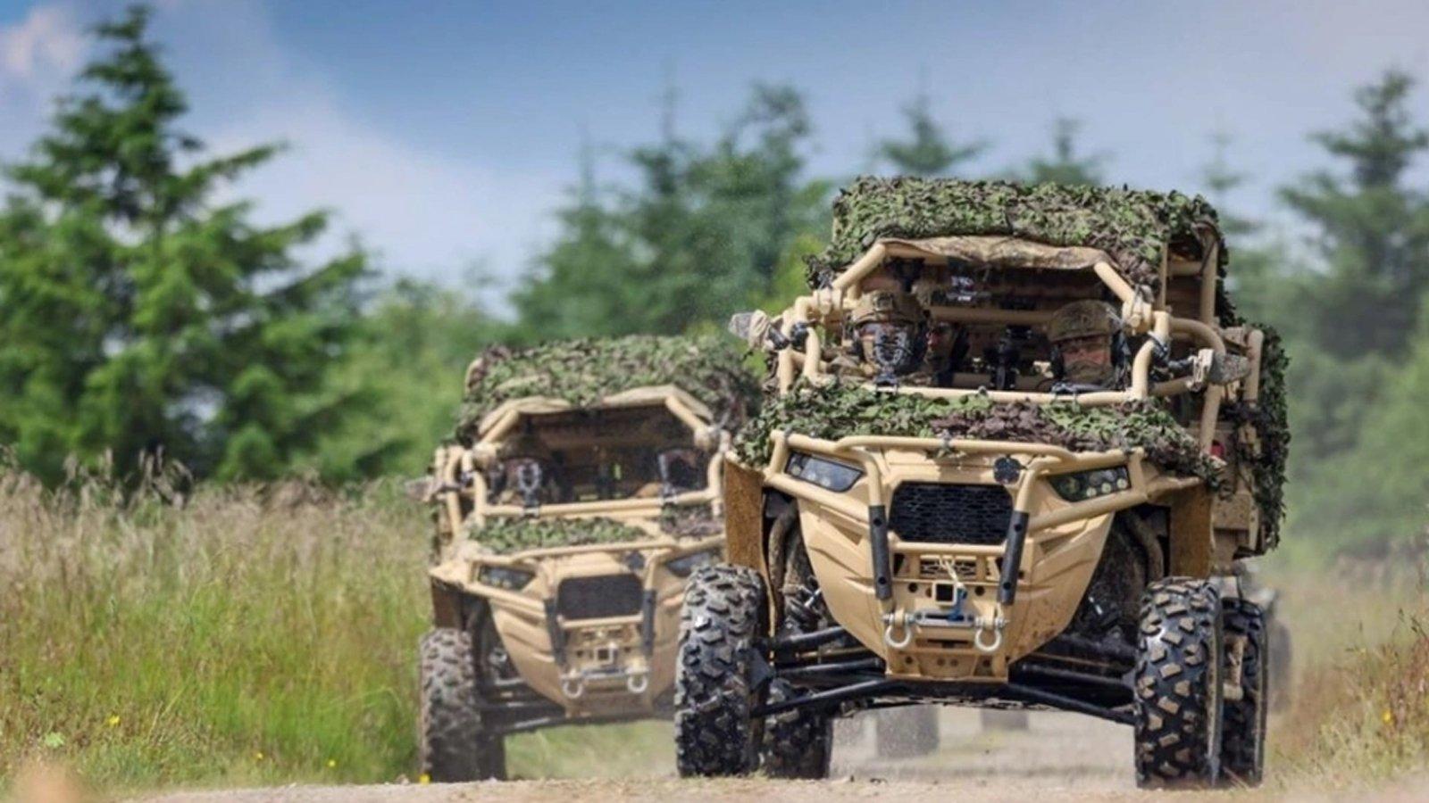 Οι βρετανοί κομάντος δοκιμάζουν τα ATV της Polaris